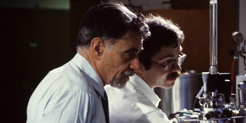 Physiker Johannes Georg Bednorz und Karl Alexander Müller